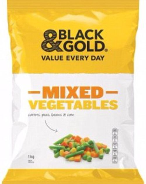 Metcash has recalled 1kg Black & Gold's Mixed Vegetables from IGA, Campbells and Independent Grocers. Picture: Supplied