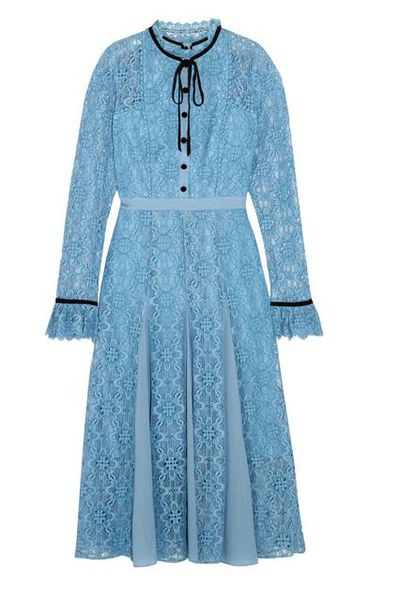 "The dress that Duchess Kate opted to wear for her first official engagement post pregnancy announcement. <a href=""https://www.net-a-porter.com/au/en/product/937273?cm_mmc=Google-ProductSearch-AU--c-_-Net-a-Porter-AUPLA-_-AUS+-+GS+-+Core+Products+-+High--Very+high+price-_-__pla-198481501510_APAC&amp;gclid=EAIaIQobChMI8dvksN3n1gIVhQcqCh1orAR-EAYYASABEgLqLPD_BwE&amp;gclsrc=aw.ds"" target=""_blank"">The Temperley London Eclipse Corded Lace Midi Dress, $1442.74.</a>"