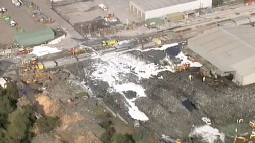 An aerial view of the site. (9NEWS)