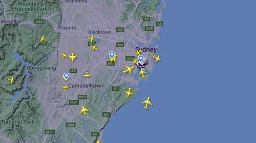 Planes are currently circling around the airspace waiting for clearance to land.