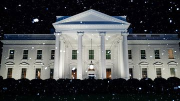 White House tweets snow photo on an abnormally warm day.