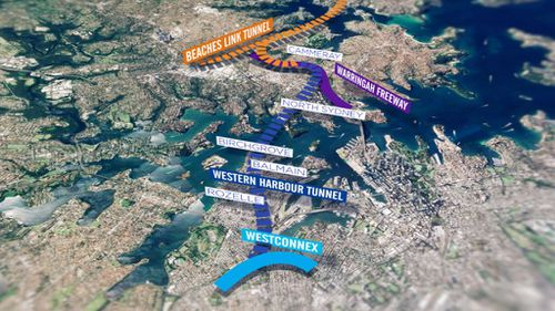The estimated cost of the second under-harbour crossing is $7.2b (9NEWS)