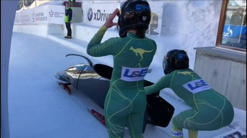 The Australian women's bobsled team won't be heading to the Winter Olympics this year, despite qualifying. (9NEWS)