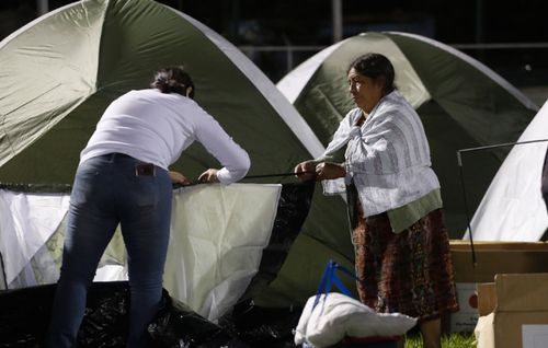Nearby residents were forced into emergency evacuation shelters.