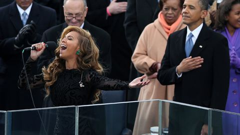 Beyoncé 'lip-synced' anthem at Obama's Inauguration ... or did she?