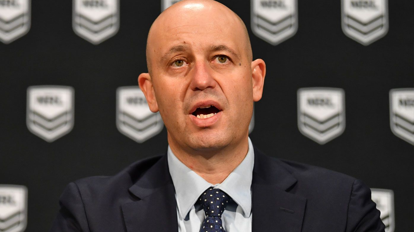 NRL CEO Todd Greenberg refuses to back down on controversial 'no fault' stand-down rule