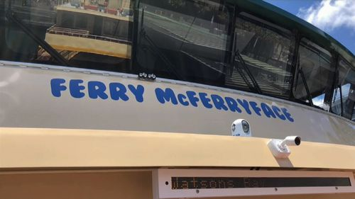 Mr Constance chose Ferry McFerryface despite spending $100,000 to find out what name the public wanted. (9NEWS)