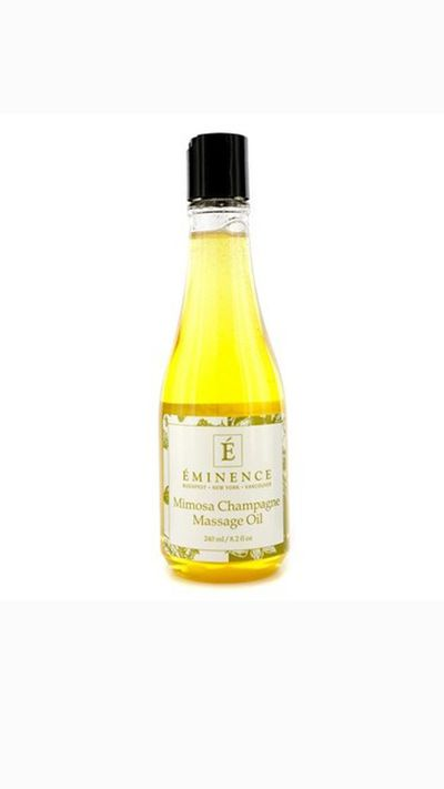 "<a href=""https://www.eminenceorganics.com.au/product/mimosa-champagne-massage-oil-240ml/"" target=""_blank"">Mimosa Champagne Massage Oil, $51 (240ml)</a><br /><br /><p>Champagne and ice wine grapes help detoxify and hydrate while the grapeseed oil soothes skin.</p>"