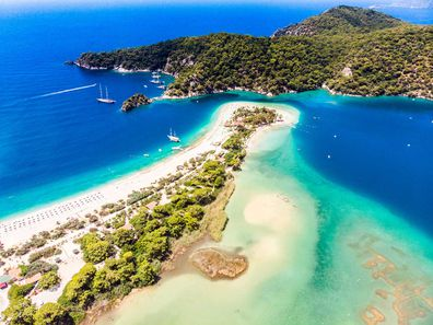 Oludeniz is one of many stunning beaches and lagoons on the Turquoise Coast.