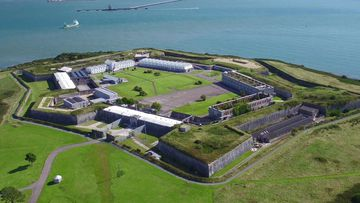 A star-shaped fortress atop a picturesque island off the southwest coast of Ireland once housed one of the world's biggest prison populations.