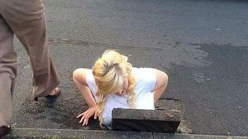 Teen stuck in drain trying to save phone