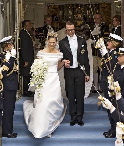 Crown Princess Victoria of Sweden and her husband Prince Daniel of Sweden.