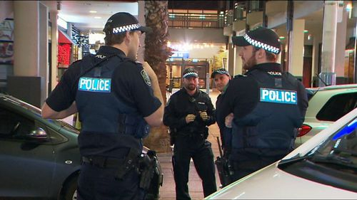 Emergency services closed Hindley st for over an hour while they investigated. Photo: Supplied