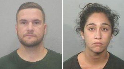 Wanted man Christopher Szenczy and prison escapee Elika Asasi.