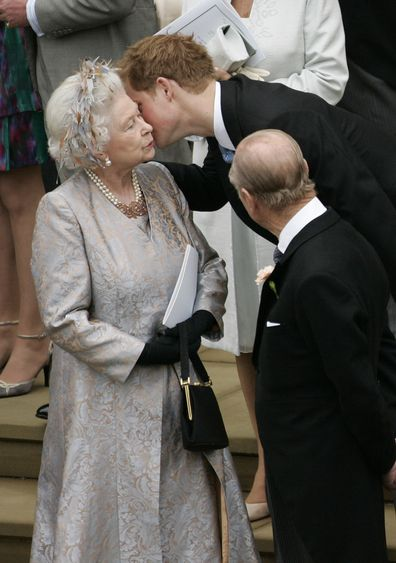 Prince Harry close to the Queen