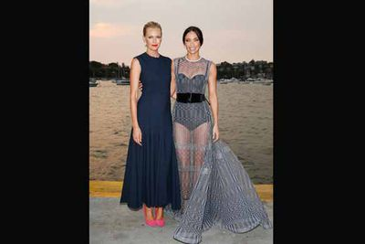 Sarah Murdoch and Erica Packer take a glam night off of mum duty.