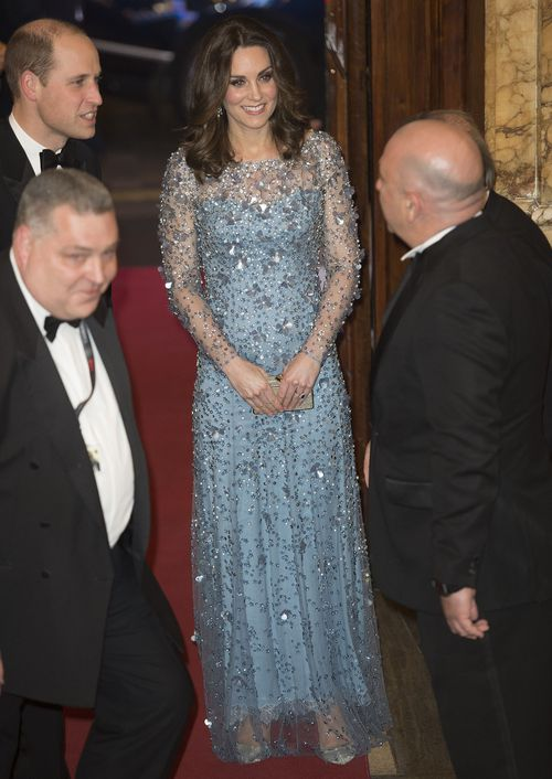 The Duchess wore a Jenny Packham gown. (AAP)
