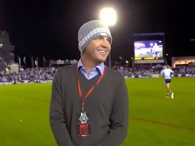 Matt Callander's daughter on the NRL Beanie for Brain Cancer round