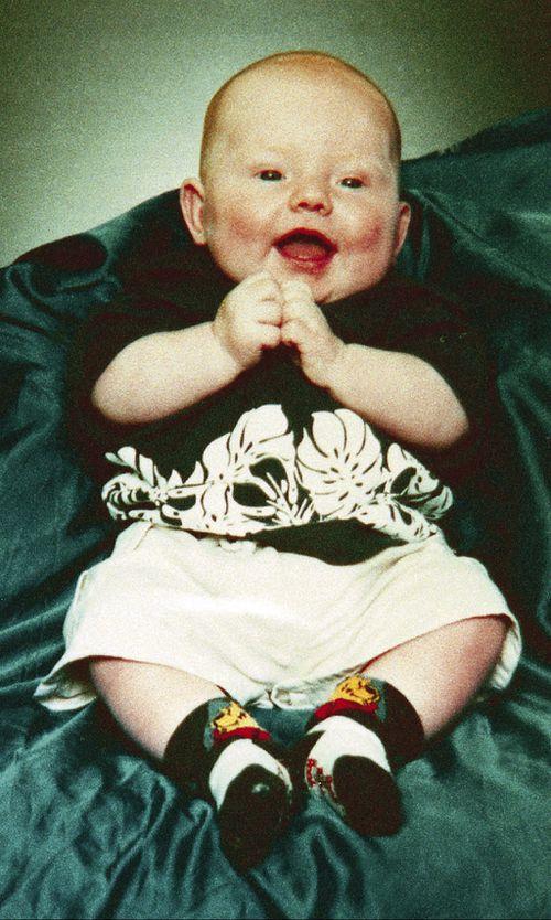 Baby Jordan Anderson taken shortly before his death in 2003. (AAP)