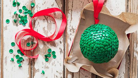 Thumbtack Christmas bauble