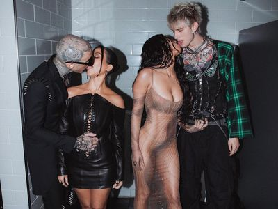 Megan Fox and Kourtney Kardashian's makeout session with boyfriends