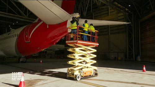 200623 Qantas coronavirus COVID-19 planes unwrapping preparing domestic travel boost