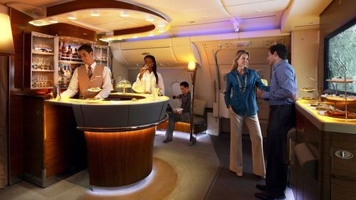 The Emirates' A380 first and business class