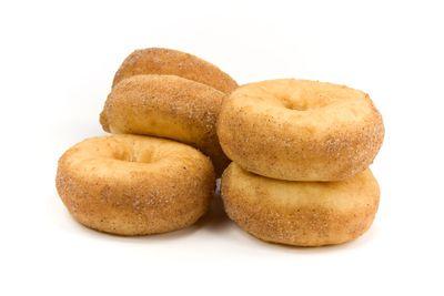 Cinnamon doughnut: 2 teaspoons of sugar