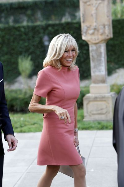 The wife of French President Emmanuel Macron, Brigitte.