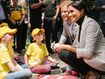 Harry and Meghan spend the afternoon with the Kookaburra kids