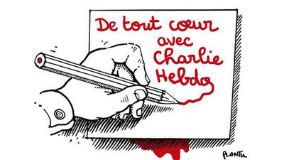 """All hearts with Charlie Hebdo"" - Gilles van Kote, French newspaper Le Monde"