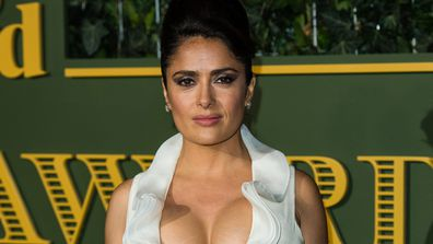 Salma Hayek - on women and the maternal instinct. Image: Getty.