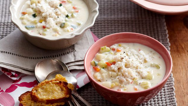 Potato and crab chowder - $2.25 per serve
