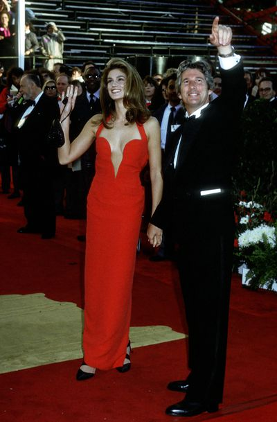 Richard Gere and Cindy Crawford in Versace at the 1991 Academy Awards
