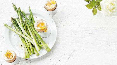 "Recipe:&nbsp;<a href=""http://kitchen.nine.com.au/2017/05/19/16/14/dr-libby-weavers-sesame-eggs-with-asparagus-soldiers"" target=""_top"">Dr Libby Weaver's sesame eggs with asparagus soldiers</a>"
