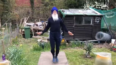 YouTube: Raj Skipping Sikh, 73-year-old man skips rope in his backyard during coronavirus lockdown
