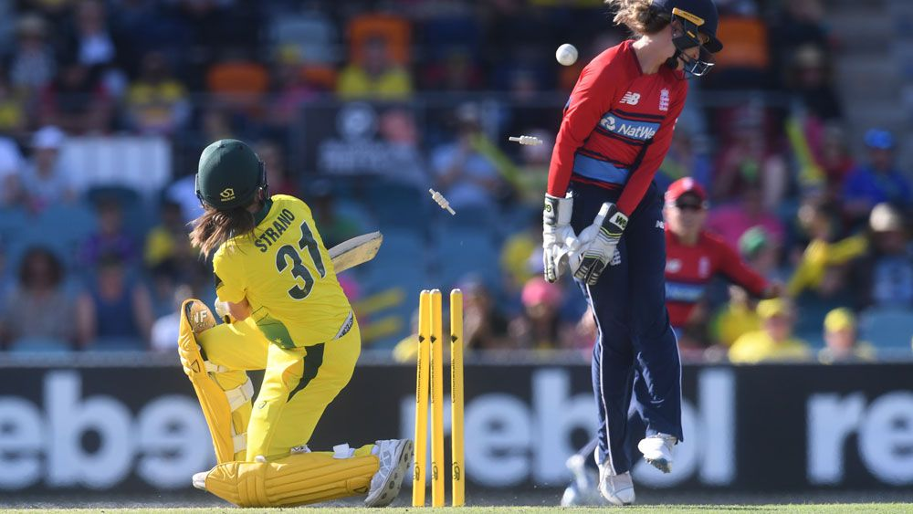 Aussies collapse in women's Ashes T20 loss
