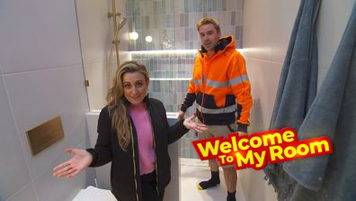 Welcome To My Room: Kirsty and Jesse reveal the reason behind the nib wall in their bathroom