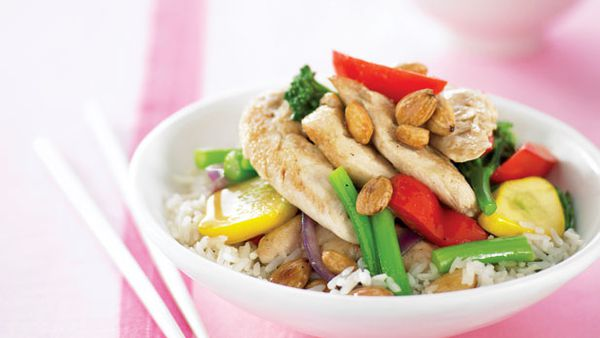 Almond chicken stirfry