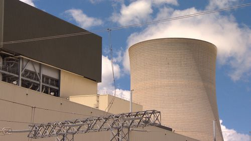 The new furnace and boiler would sit within the same site at Mt Piper (9NEWS)