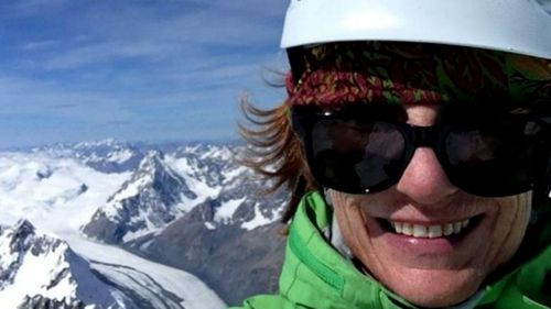 New Zealand climber Jo Morgan during a previous mountaineering trip four years ago.