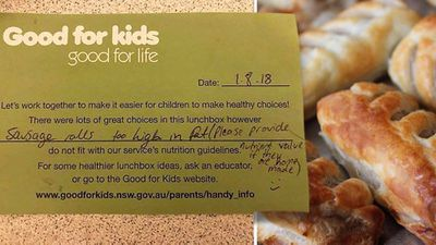 Mum furious over school banning healthy lunch