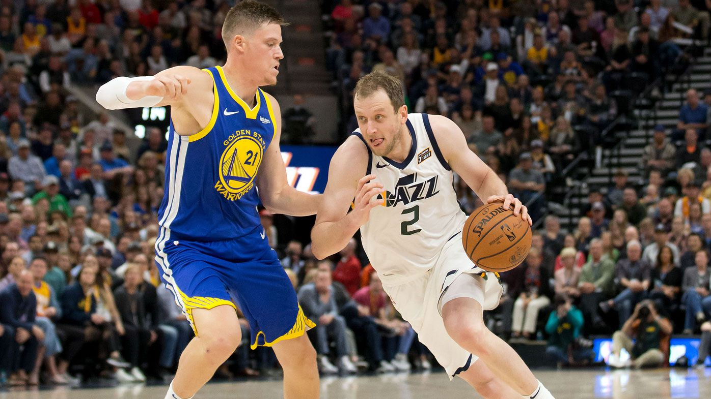 Joe Ingles scores NBA career high but not enough to knock off Warriors