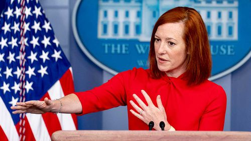 White House press secretary Jen Psaki.