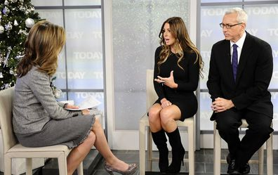 Tiger Woods mistress Rachel Uchitel during an interview on NBC after the scandal broke.