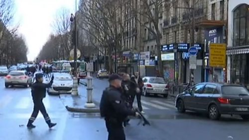 Police near the scene of the attacks. (AFP)