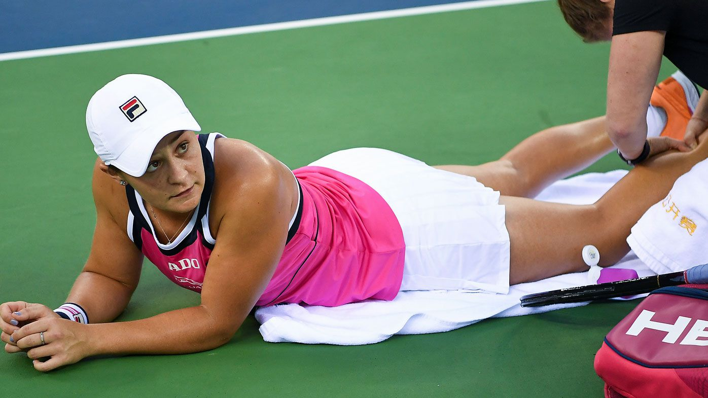 Ash Barty has hit an injury setback