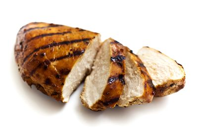 Chicken breast with the skin off