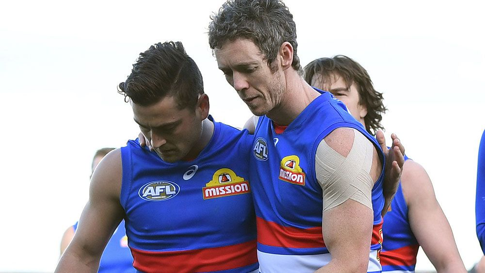 Luke Daulhaus, Bob Murphy and the Western Bulldogs have had an unhappy year. (AAP)