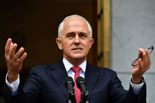 Prime Minister Malcolm Turnbull at a press conference at Parliament House in Canberra